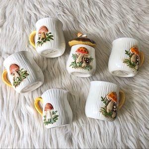 Vintage | Merry Mushroom | Sears Roebuck Mug Set